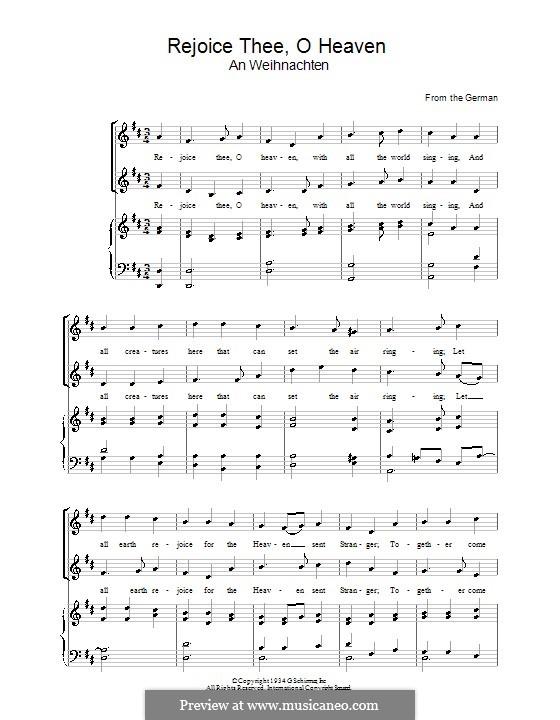 Rejoice Thee, o Heaven: Für Stimme und Klavier by folklore
