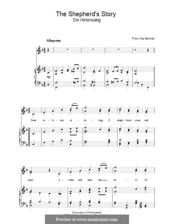 The Shepherd's Story: Für Stimme und Klavier by folklore