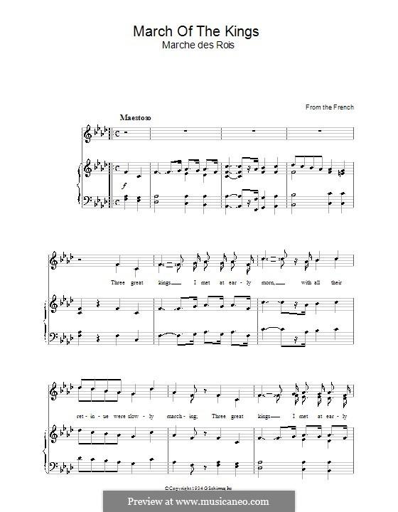 March of the Kings: Für Stimme und Klavier by folklore