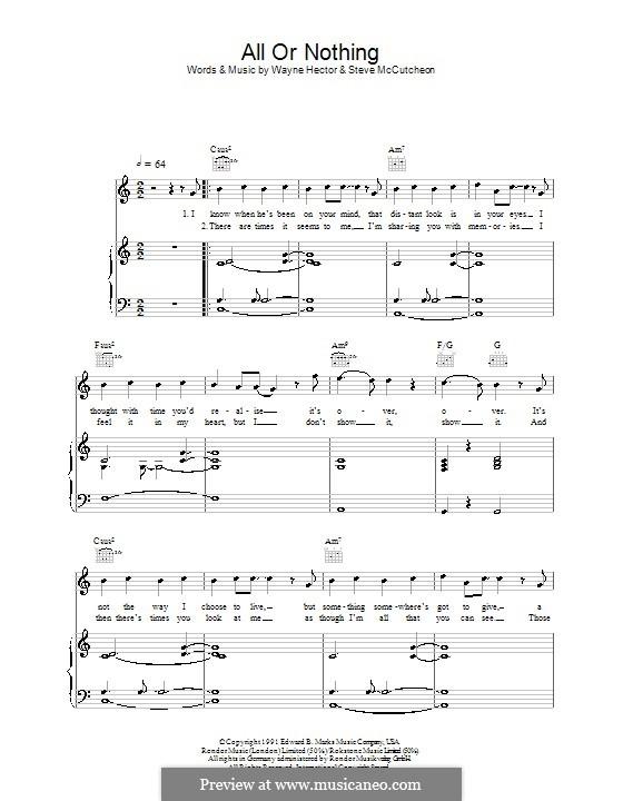 All or Nothing: Für Stimme mit Klavier oder Gitarre (Westlife) by Steve Mac, Wayne Anthony Hector