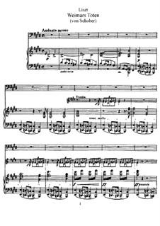 Weimars Toten, S.303: Weimars Toten by Franz Liszt