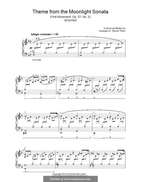 Teil I: Einfache Noten für Klavier (d-Moll) by Ludwig van Beethoven