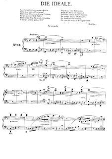 Symphonische Dichtung Nr.12 'Die Ideale', für Klavier, vierhändig, S.596c: Symphonische Dichtung Nr.12 'Die Ideale', für Klavier, vierhändig by Franz Liszt