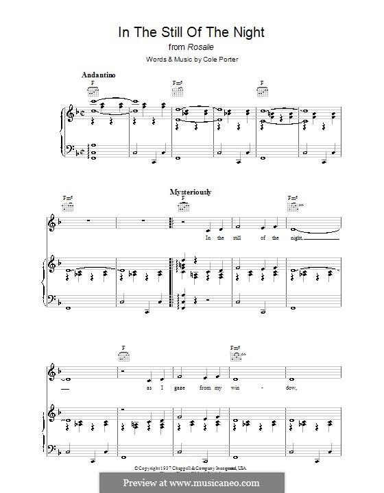 In the Still of the Night: Für Stimme und Klavier (oder Gitarre) by Cole Porter