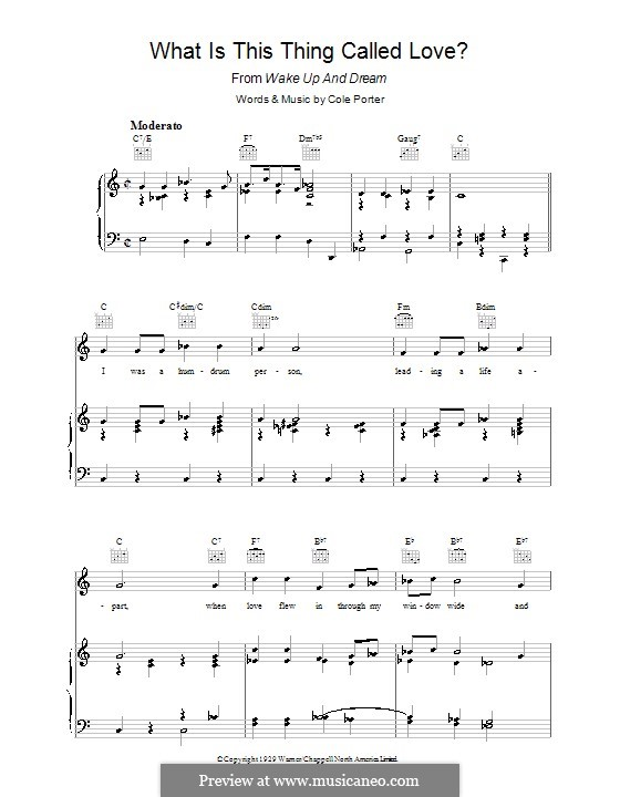 What Is This Thing Called Love?: Für Stimme und Klavier (oder Gitarre) by Cole Porter