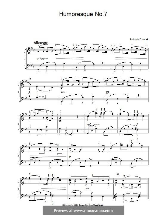 Humoresken, B.187 Op.101: Nr.7 in G-Dur by Antonín Dvořák