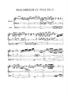 Präambel und Fuge in g-Moll: Präambel und Fuge in g-Moll by Vincent Lübeck