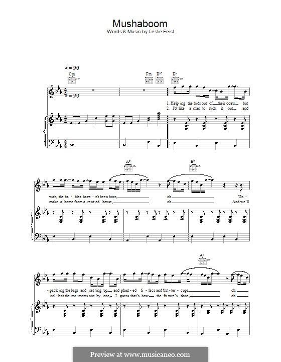 Mushaboom: Für Stimme und Klavier (oder Gitarre) by Leslie Feist