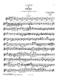 Klaviertrio, Op.18: Klaviertrio by Albéric Magnard