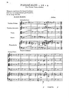 Passacaglia für Streichquartett und Basso Continuo: Passacaglia für Streichquartett und Basso Continuo by Biagio Marini