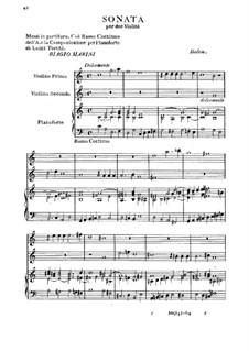 Sonate für zwei Violinen und Basso Continuo: Sonate für zwei Violinen und Basso Continuo by Biagio Marini