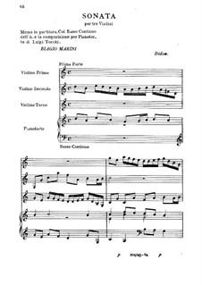 Sonate für drei Violinen und Basso Continuo: Sonate für drei Violinen und Basso Continuo by Biagio Marini