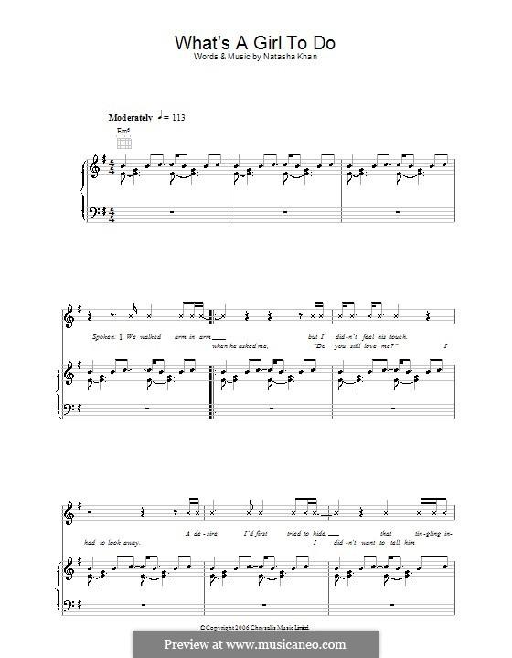 What's a Girl To Do (Bat for Lashes): Für Stimme und Klavier (oder Gitarre) by Natasha Khan