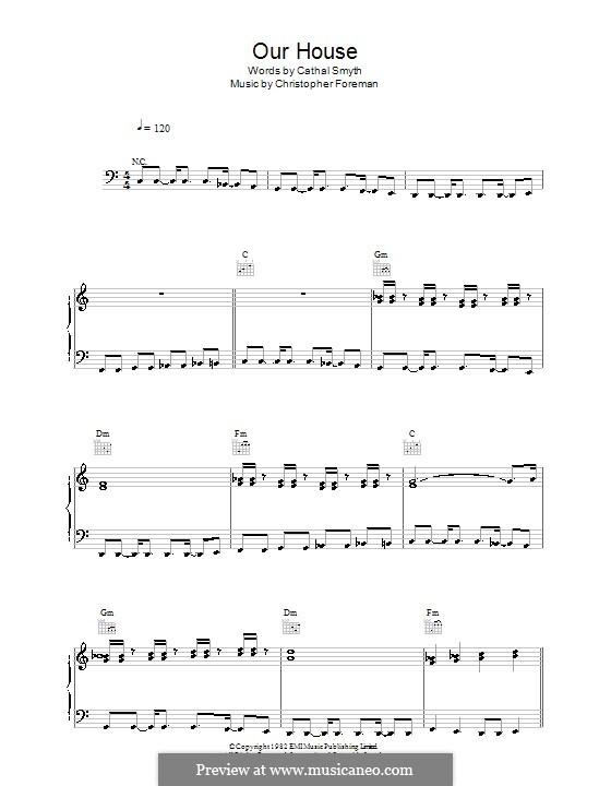 Our House (Madness): Für Stimme und Klavier (oder Gitarre) by Cathal Smyth, Christopher Foreman