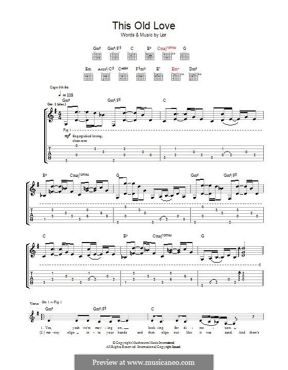 This Old Love: Für Gitarre mit Tab by  Lior