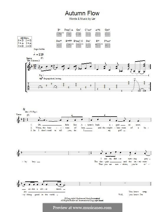 Autumn Flow: Für Gitarre mit Tab by  Lior