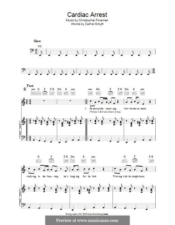 Cardiac Arrest (Madness): Für Stimme und Klavier (oder Gitarre) by Chas Smash, Christopher Foreman