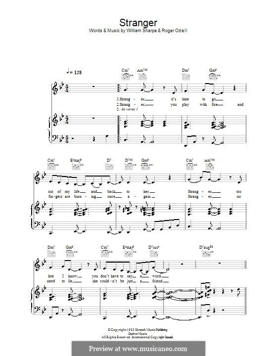 Stranger (Shakatak): Für Stimme und Klavier (oder Gitarre) by Roger Odell, William Sharpe