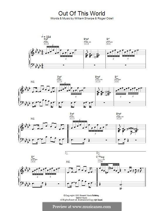 Out of This World (Shakatak): Für Stimme und Klavier (oder Gitarre) by Roger Odell, William Sharpe
