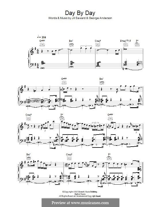 Day By Day (Shakatak): Für Stimme und Klavier (oder Gitarre) by George Anderson, Jill Saward