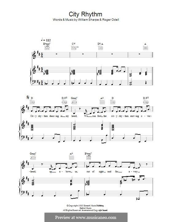 City Rhythm (Shakatak): Für Stimme und Klavier (oder Gitarre) by Roger Odell, William Sharpe