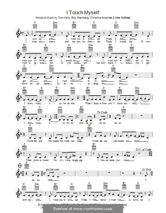 I Touch Myself (The Divinyls): Melodie, Text und Akkorde by Billy Steinberg, Christine Amphlett, Mark McEntee, Tom Kelly