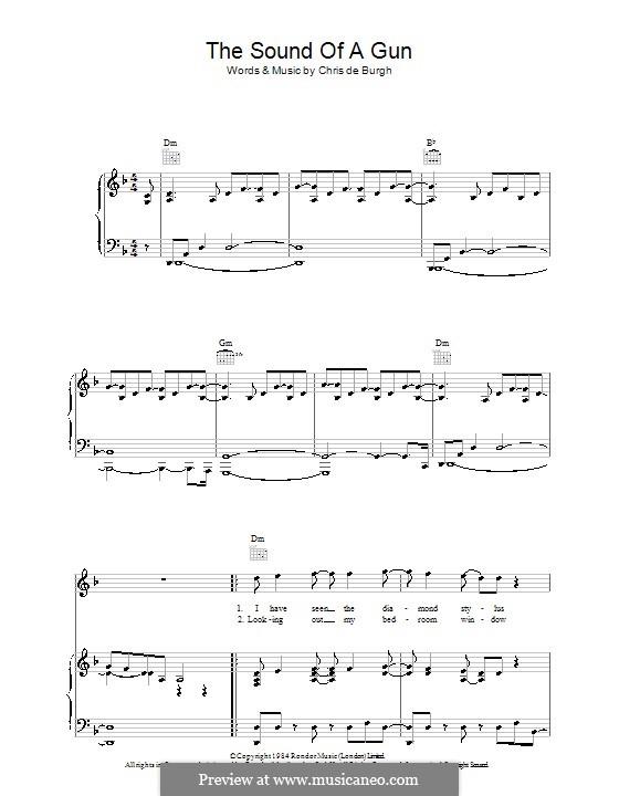 The Sound of a Gun: Für Stimme und Klavier (oder Gitarre) by Chris de Burgh
