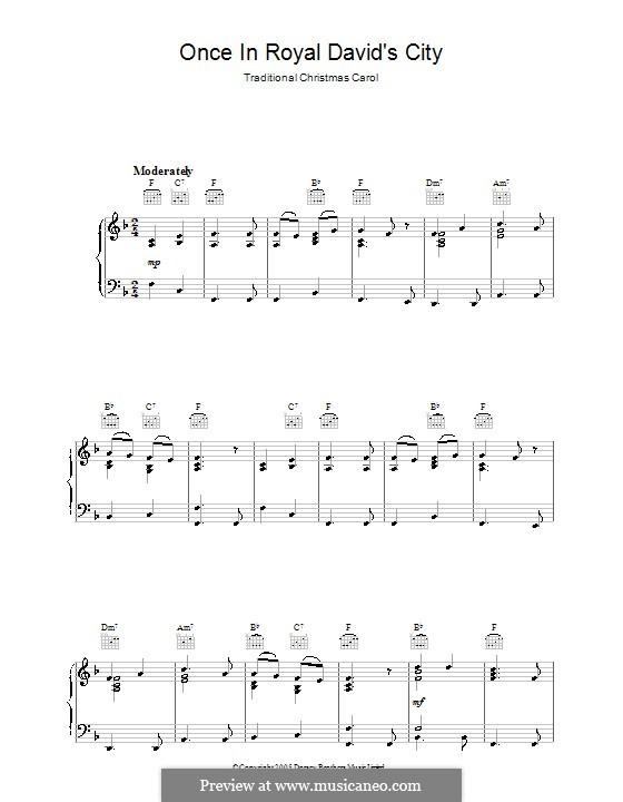 Einst in der königlichen Stadt David: Für Klavier by Henry John Gauntlett
