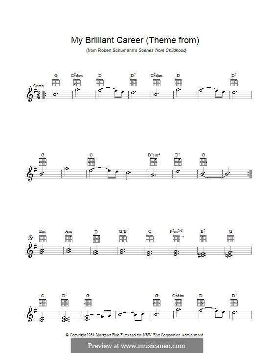 Nr.1 Von fremden Ländern und Menschen: Melodische Linie by Robert Schumann
