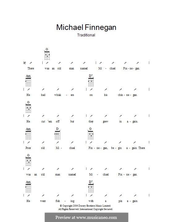 Michael Finnegan: Ukulele mit Schlagmuster by folklore