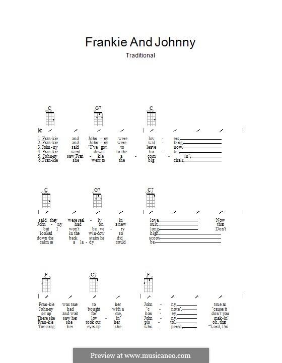 Frankie and Johnny: Ukulele mit Schlagmuster by folklore