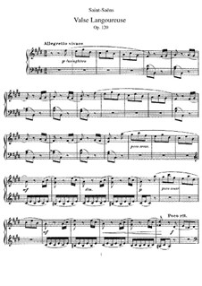 Valse langoureuse, Op.120: Für Klavier by Camille Saint-Saëns