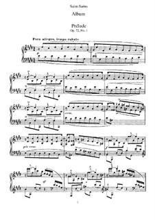 Album für Klavier, Op.72: Album für Klavier by Camille Saint-Saëns