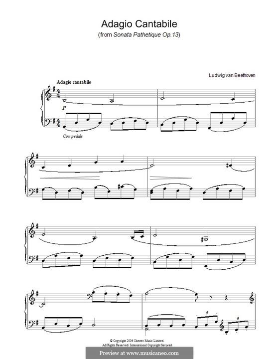 Teil II: Version für einfache Noten für Klavier by Ludwig van Beethoven