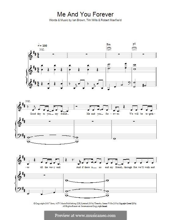 Me and You Forever: Für Stimme und Klavier (oder Gitarre) by Robert Maxfield, Tim Wills