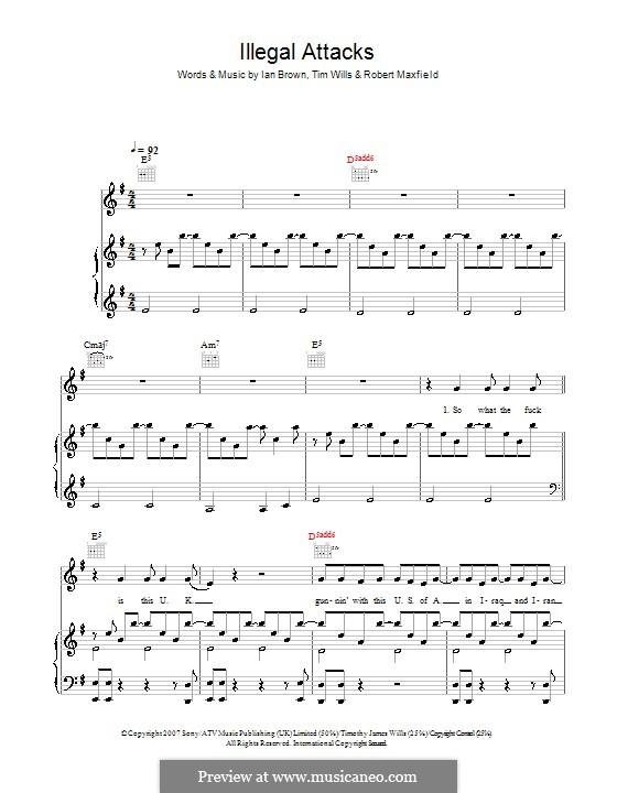 Illegal Attacks: Für Stimme und Klavier (oder Gitarre) by Robert Maxfield, Tim Wills
