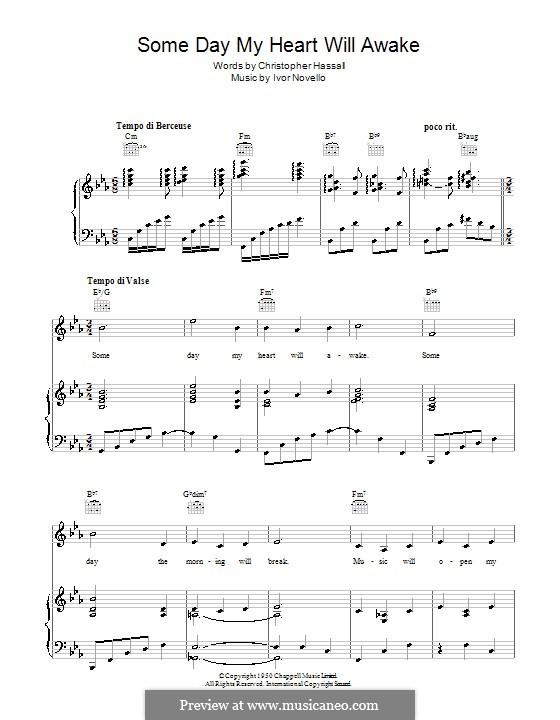 Someday My Heart Will Awake: Für Stimme und Klavier (oder Gitarre) by Christopher Hassall