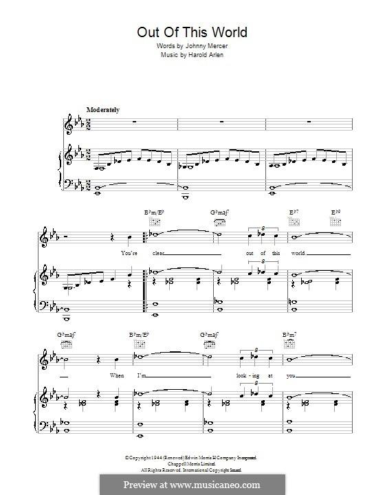 Out of This World: Für Stimme und Klavier (oder Gitarre) by Harold Arlen