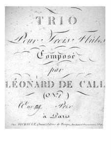 Trio für drei Flöten, Op.2: Trio für drei Flöten by Leonhard von Call