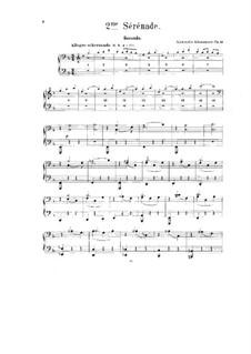 Serenade No.2 für Orchester, Op.11: Bearbeitung für Klavier, vierhändig - Stimmen by Alexander Glazunov