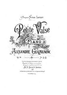 Klein Walzer für Klavier, Op.36: Klein Walzer für Klavier by Alexander Glazunov