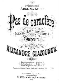 Pas de Caractère, Op.68: Bearbeitung für Klavier by Alexander Glazunov