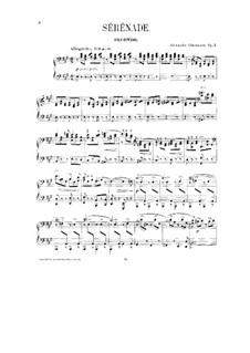 Serenade No.1 für Orchester, Op.7: Bearbeitung für Klavier, vierhändig - Stimmen by Alexander Glazunov