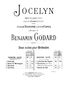 Suite für Orchester No.1: Vollpartitur by Benjamin Godard