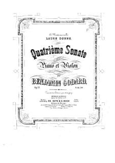 Sonate für Violine und Klavier Nr.4, Op.12: Partitur, Solostimme by Benjamin Godard