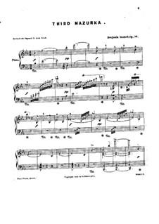 Mazurka Nr.3 in Es-Dur, Op.74: Mazurka Nr.3 in Es-Dur by Benjamin Godard