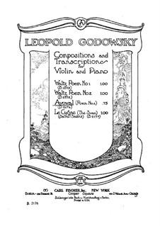 Vier Poeme für Klavier: Poem No.2 Avowal. Version for violin and piano, solo part by Leopold Godowsky