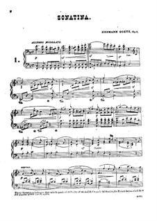 Zwei Sonatinen, Op.8: Zwei Sonatinen by Hermann Götz