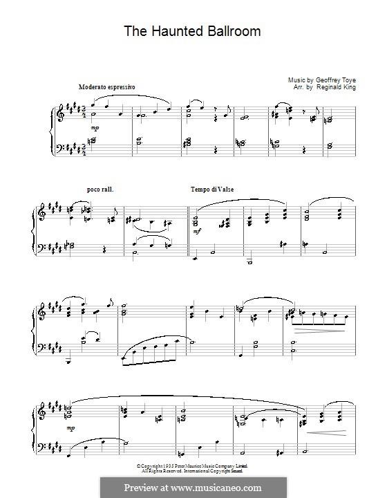 Haunted Ballroom: Für Klavier by Geoffrey Toye