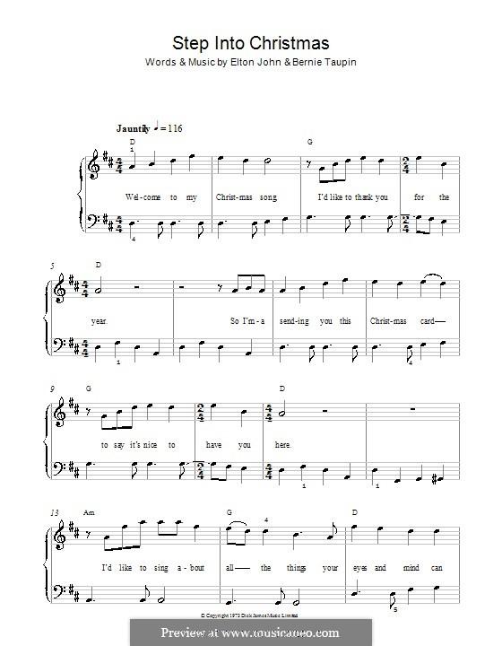 Step Into Christmas: Für Klavier, leicht by Elton John